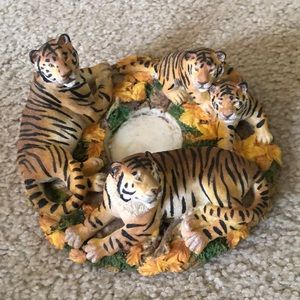 🐅 Natures Wild tiger candle holder